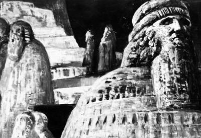 Bozzetto di Salvatore Fiume per il secondo atto (Scala, 1958)