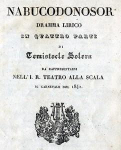 Nabucco-frontespizio della prima edizione