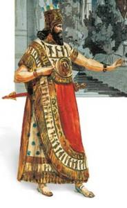 Nabucco in un bozzetto di Filippo Peroni (Scala 1854)