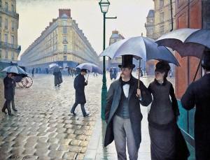 08_Gustave Caillebotte - Rue de paris et temps de pluie  (1877)