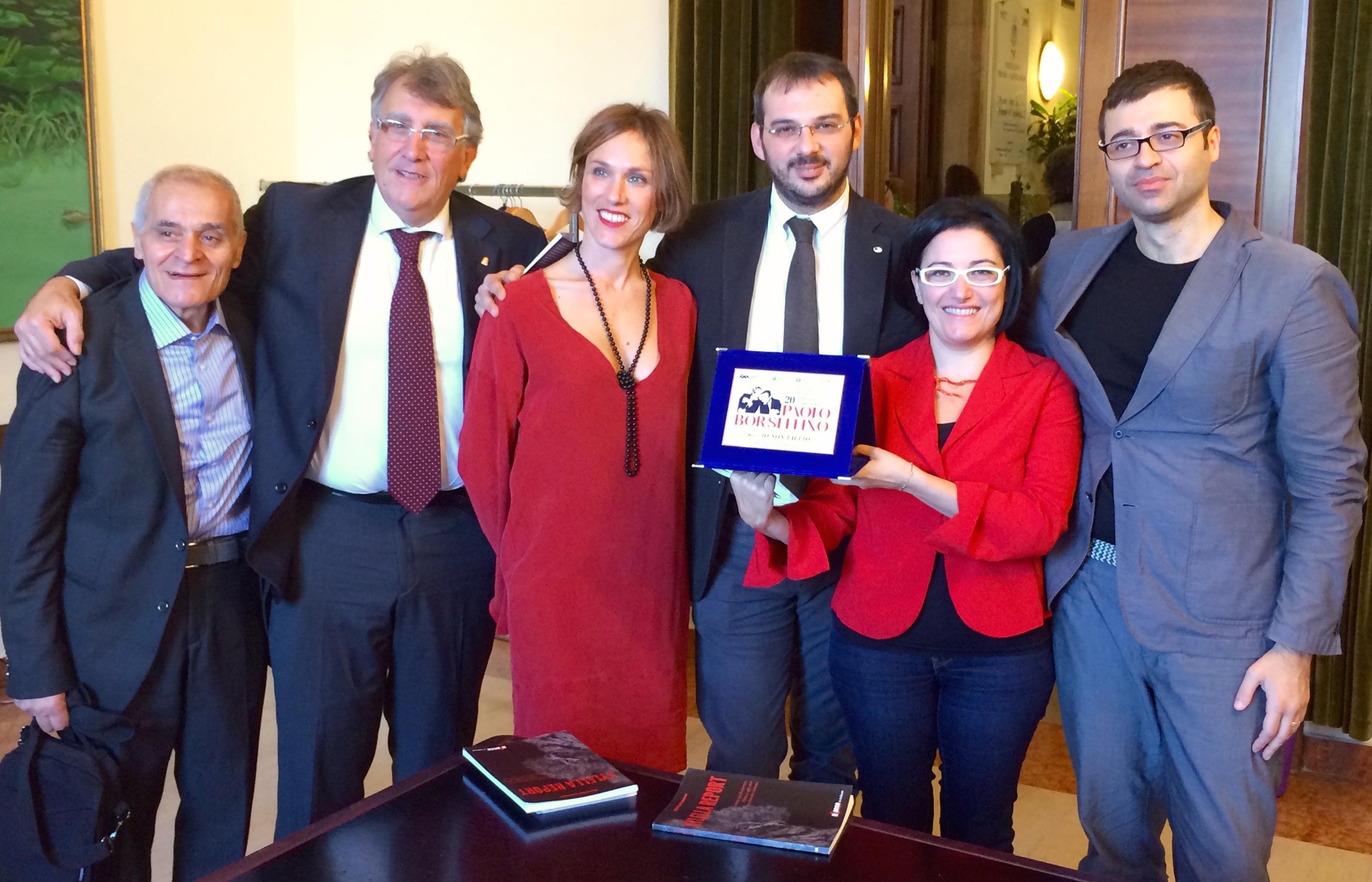 Premio Borsellino 2015 al libro IO NON TACCIO