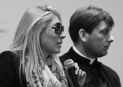 Luciana Esposito e don Antonio Coluccia