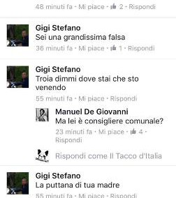 minacce consigliere Gigi Loris Stefàno